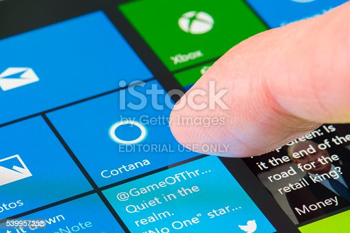 istock Using Cortana on Surface Pro 4 539957258