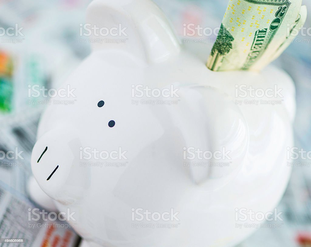 Using coupons is like putting money in the bank stock photo