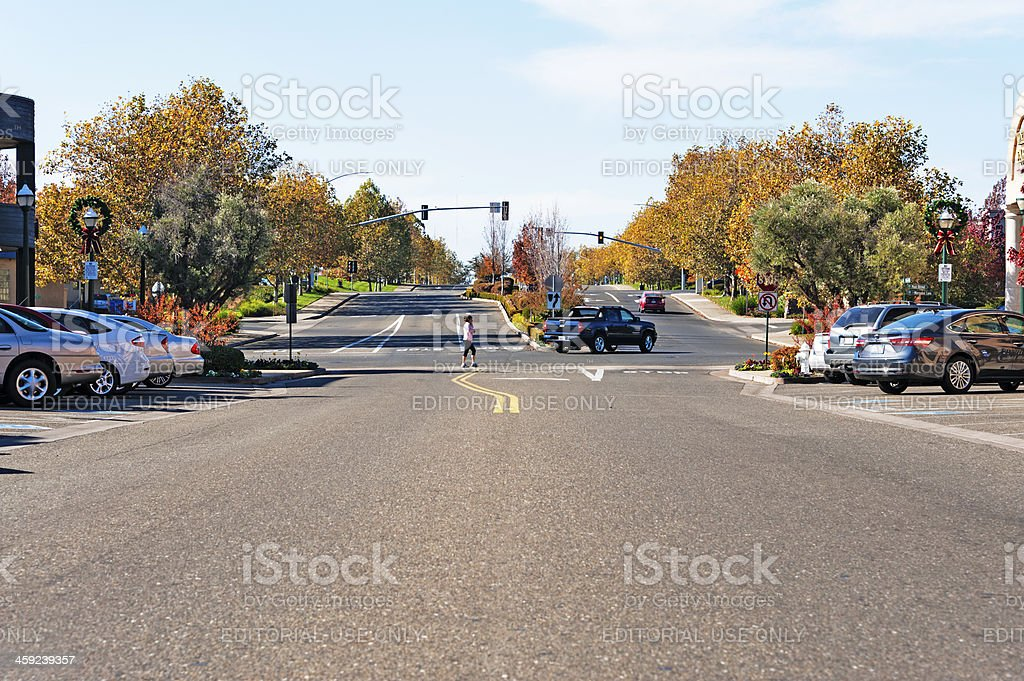 Using Crosswalk stock photo