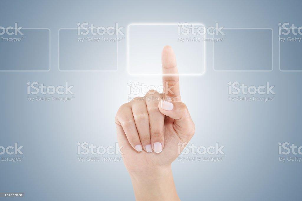 Using Digital Interface royalty-free stock photo