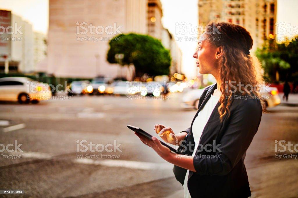 Using Digital Tablet royalty-free stock photo