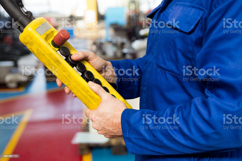 Using Hoist Remote in Factory stock photo