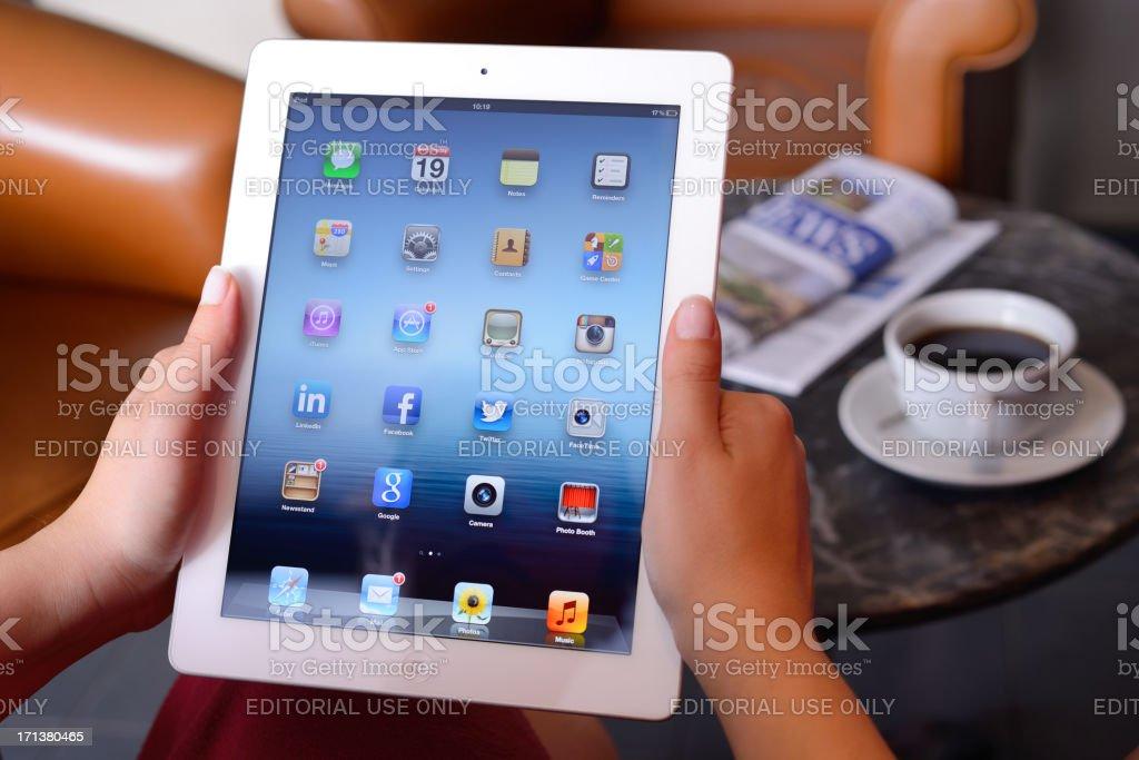Using iPad 3 royalty-free stock photo