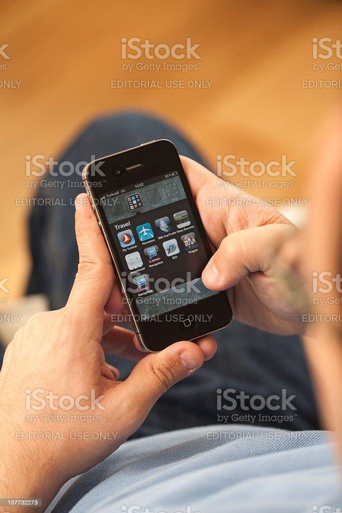 Using iPhone royalty-free stock photo