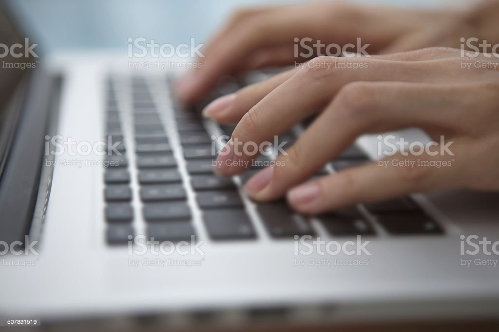 Using keyboard stock photo