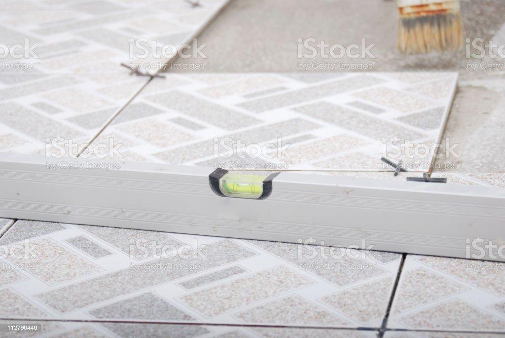 using level/ruler stock photo