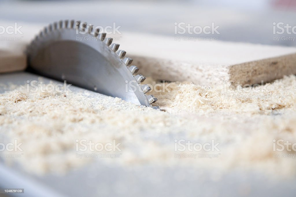 Using machines in joinery stock photo