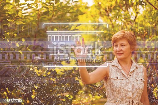 510149992 istock photo using modern technology in agriculture industry, woman push button 1168727750