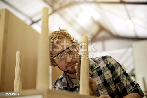 915192732 istock photo Using my hands and mind to make something with wood 915214926