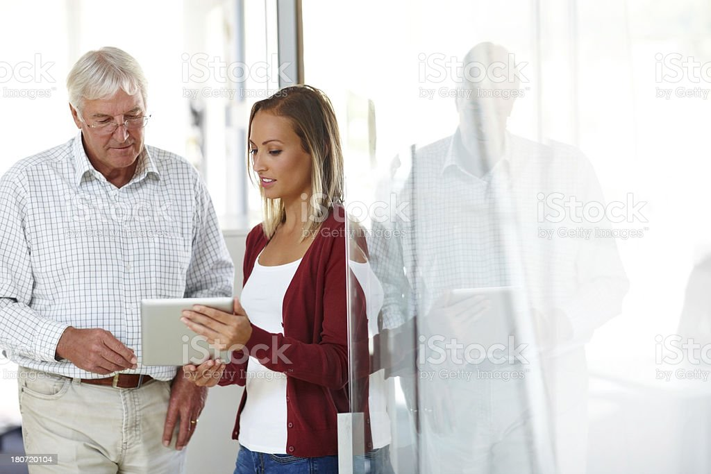 Using new technology to further their business royalty-free stock photo