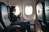 Using phone on an airplane ride