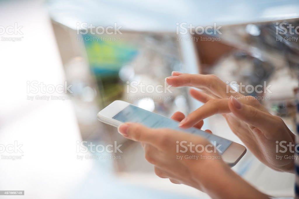 Mit Telefon – Foto