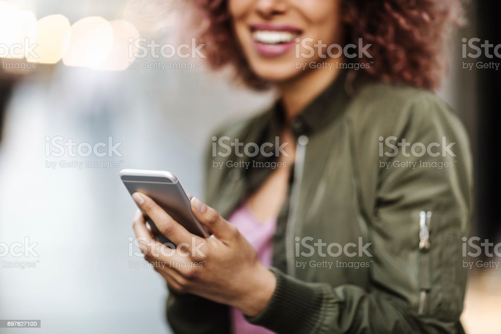 Using phone stock photo
