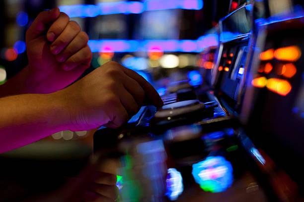 Using slot machine - Photo