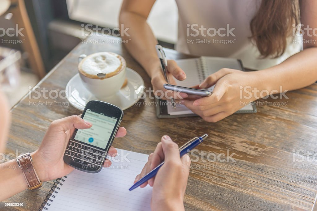 Using smartphone suitably for studying help us reach information easily stock photo