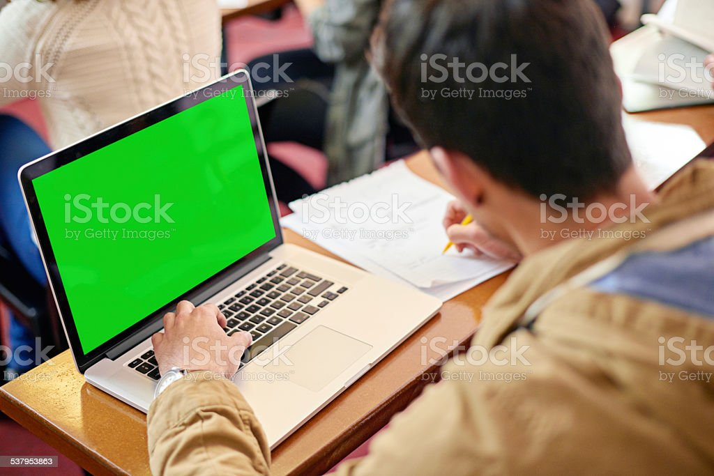 Using tech to further is educations stock photo