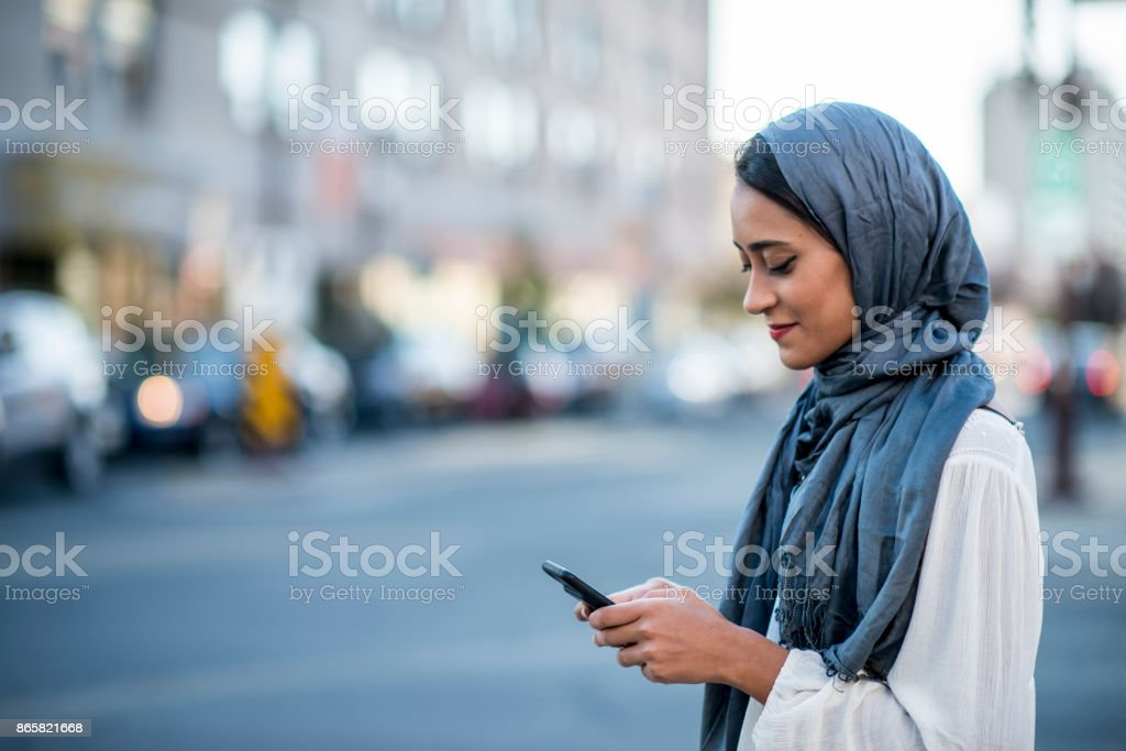 Using Technology stock photo