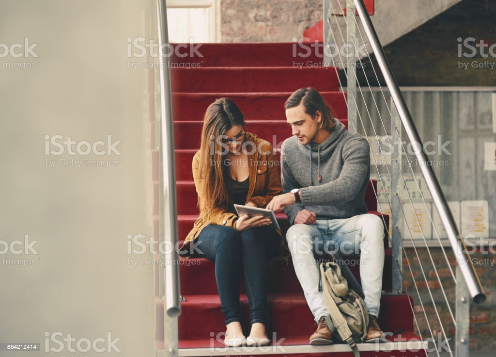 Using technology to prep for finals royalty-free stock photo