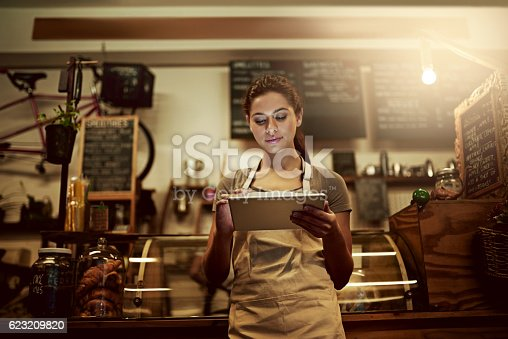 istock Using technology to streamline daily coffee shop related tasks 623209820