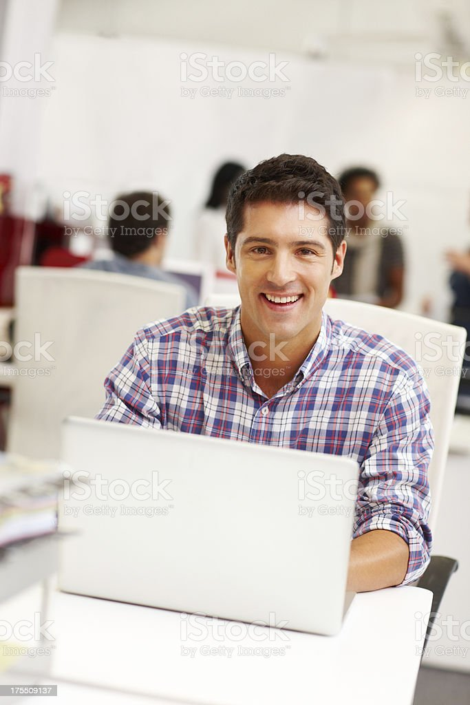 Using technology to succeed at work royalty-free stock photo