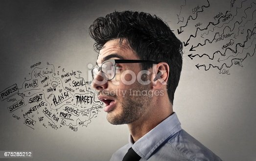 istock Using the informations 675285212