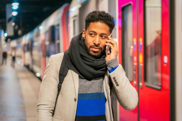 Using the Paris Metro stock photo