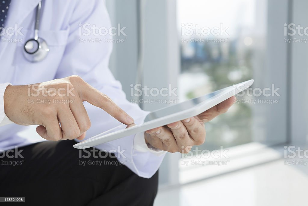 Using touchpad stock photo