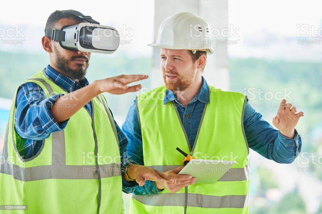 Verwendung von VR-Simulator für den Aufbau von Visualisierung – Foto
