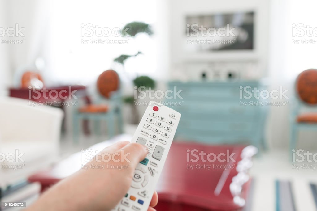 Using White Remote Control Program Switching Or Button