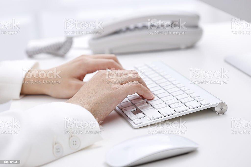 using wireless keyboard stock photo