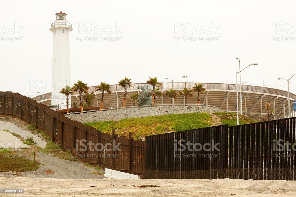 US/Mexico Border royalty-free stock photo