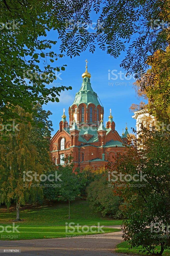 uspenki cathedral, helsinki stock photo