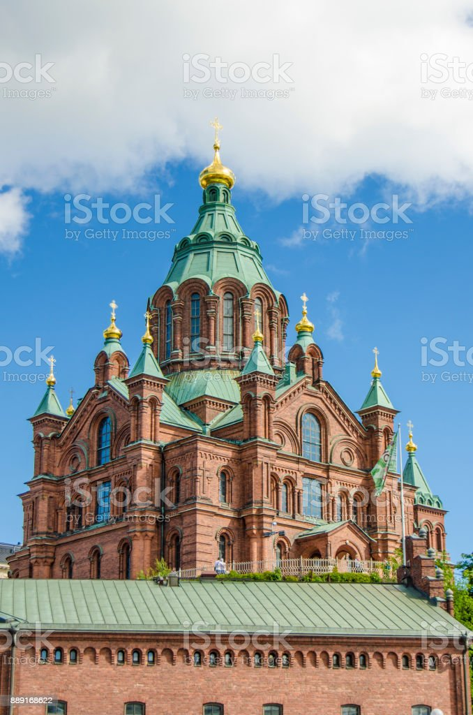 Uspenskin Cathedral, Helsinki stock photo