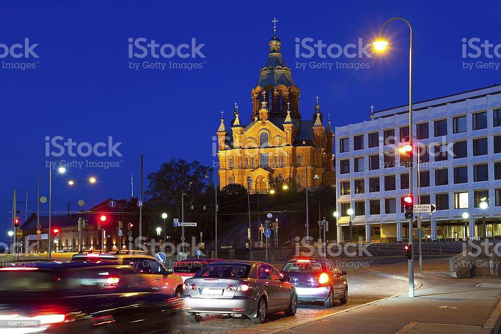 Uspensky cathedral in Helsinki, Finland royalty-free stock photo
