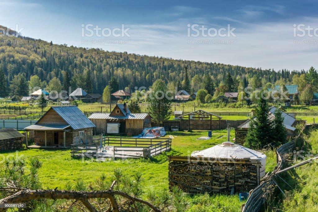 Ust-Kaspa in fall stock photo