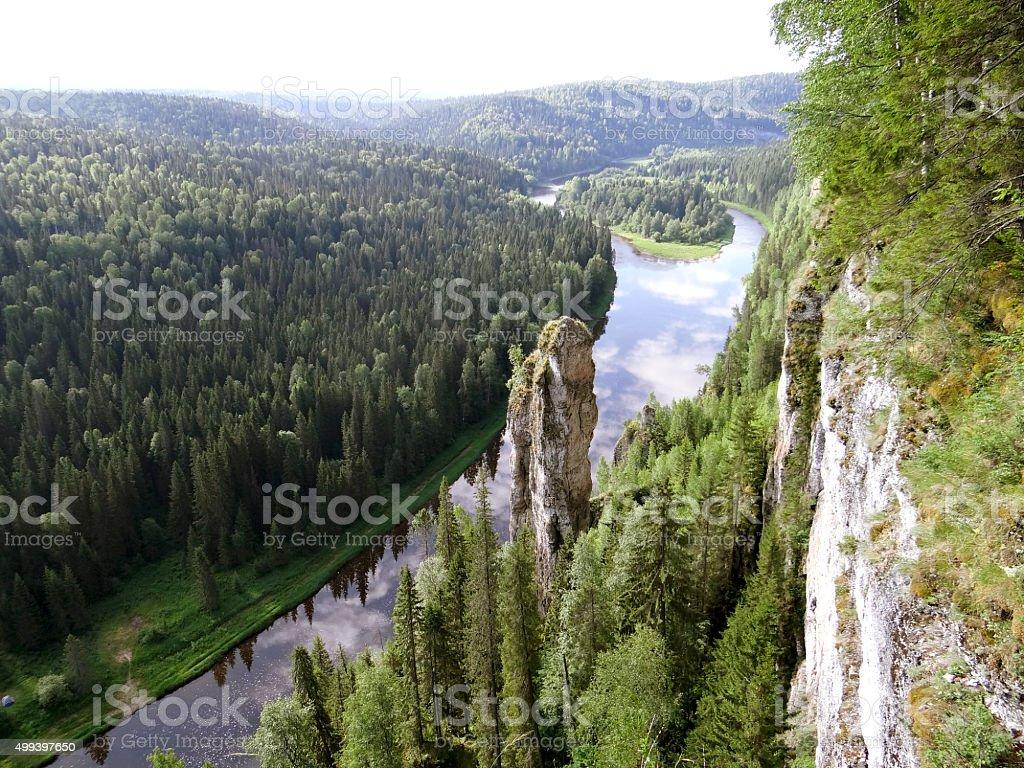 Usvinskie Pole. Perm region. Russia. stock photo