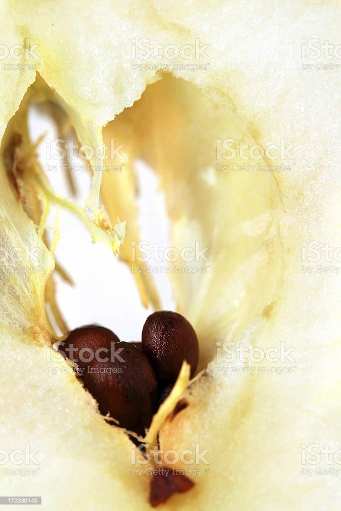 Сut apple stock photo