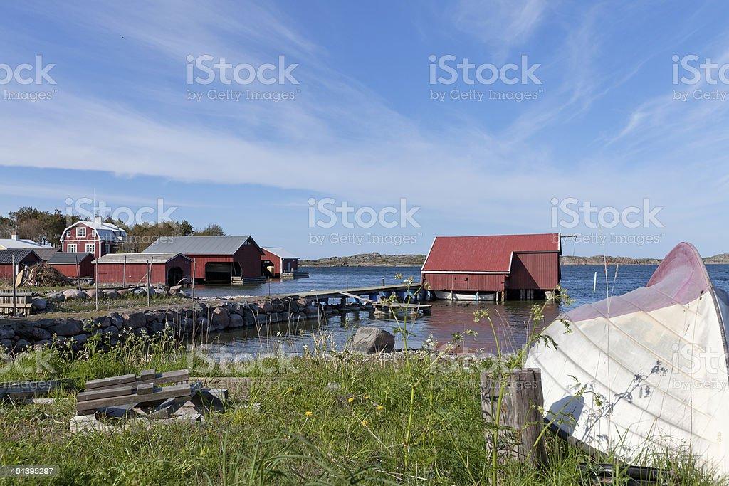 Utö Island in Finland stock photo