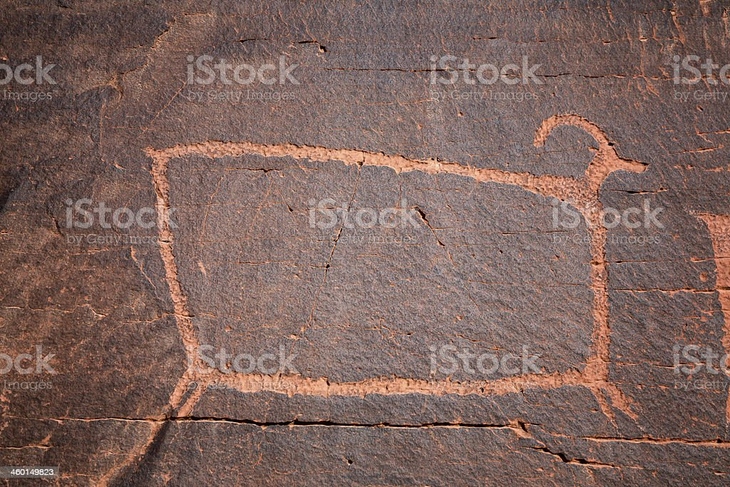 Utah Ancient Indian Pictograph stock photo