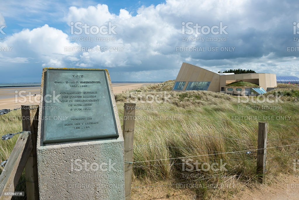 Utah Beach D-Day Museum in Normandy, France stock photo