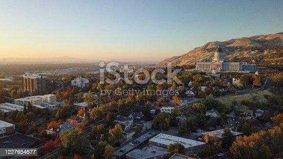Aerial view of Capital Building Salt Lake City