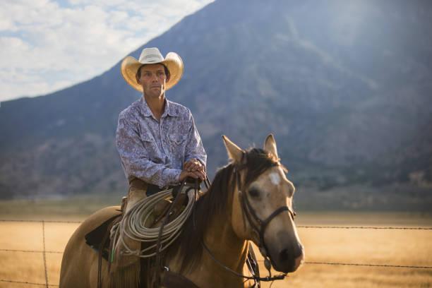 Utah Cowboy stock photo