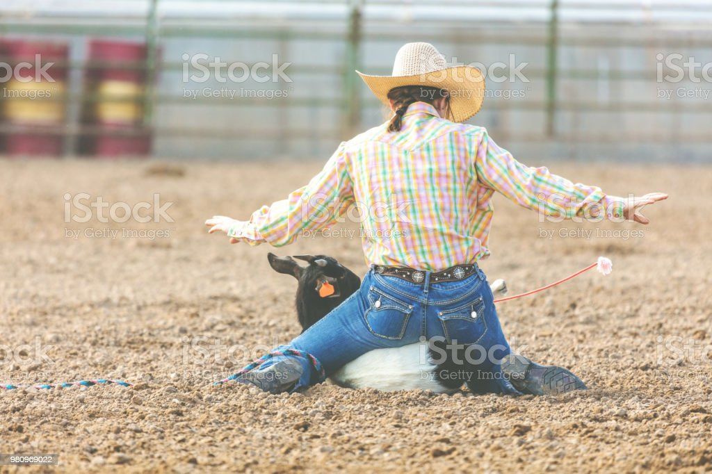 Fotografía de Utah Vaquera Cabra Atar Evento Concurso Occidental Al ...