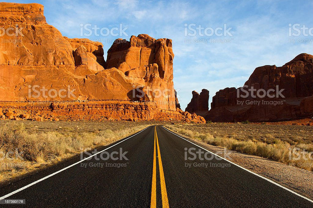 Utah Desert Road stock photo