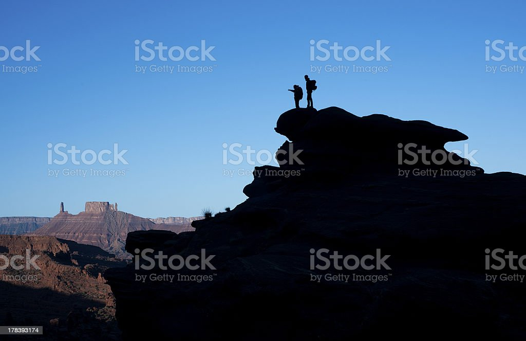 Utah hiking royalty-free stock photo