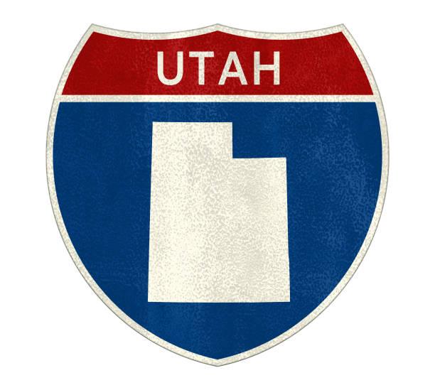 Das Verkehrszeichen Utah – Foto