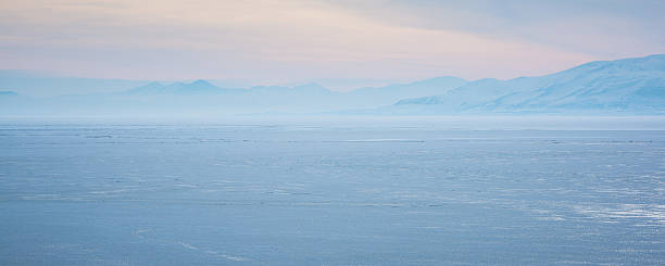 Utah Lake Deep Freeze stock photo