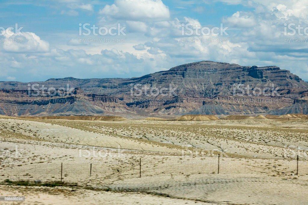 Utah landscape with barren sand desert photo libre de droits