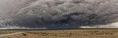 Utah road and incoming storm, panorama
