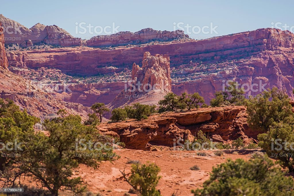 Utah Rock Formation Scenery stock photo